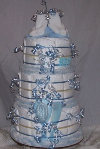 3 Tier BABY SHOWER Diaper Cake Party Favor Centerpiece Twin Decoration Game