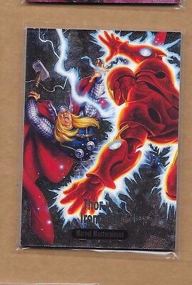 THOR VS IRON MAN  2016 UD  MARVEL MASTERPIECES  BATTLE SPECTRA  FOIL #10
