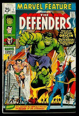 Marvel Comics MARVEL FEATURE #1 The DEFENDERS Dr Strange Hulk Sub-Marine FN+ 6.5