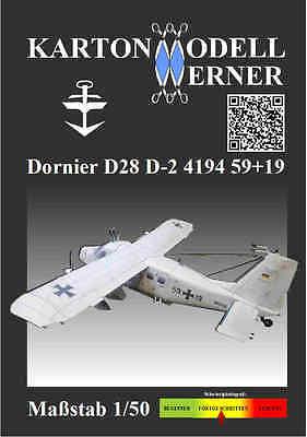 Karton-Modell-Bausatz Dornier Do 28 D 4194 51+19, MFG5, Maßstab 1:50