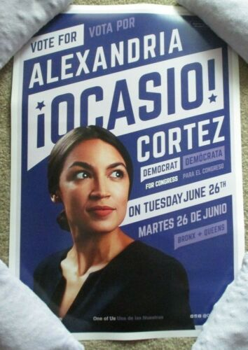 ALEXANDRIA OCASIO CORTEZ aoc 2018 CAMPAIGN POSTER purple vote