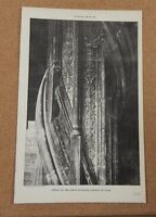 Antique Architects Print Grand Staircase Newel Chateau De Blois The Builder 1883 -  - ebay.co.uk