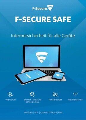 F-Secure SAFE 2020 3 Geräte 1Jahr | Internet Security für alle Geräte |DE-Lizenz