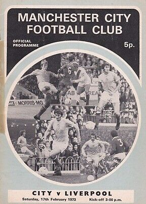 MANCHESTER CITY V LIVERPOOL DIVISION ONE 17/2/73