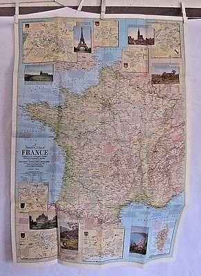 1971 National Geographic Map - Traveler's Map of France - 23 x 33 inches