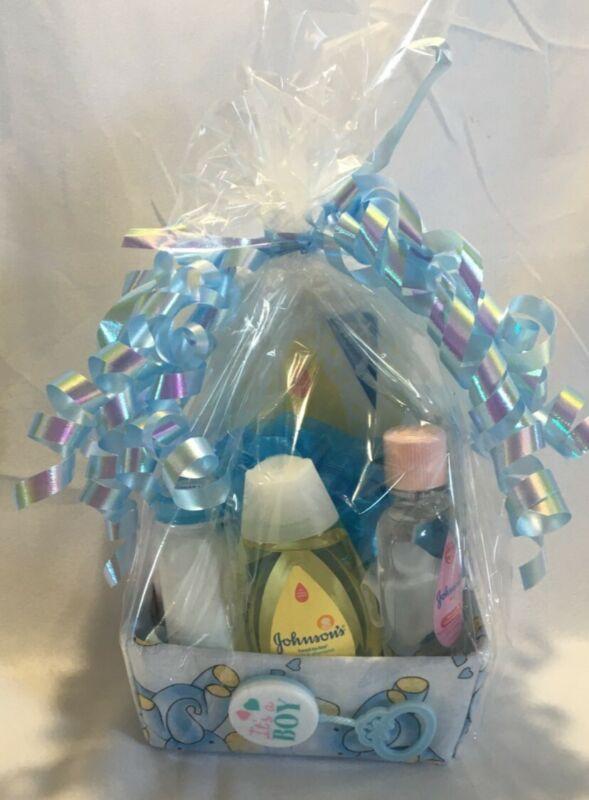 New Born Infant Baby Boy shower gift basket Value Pack.