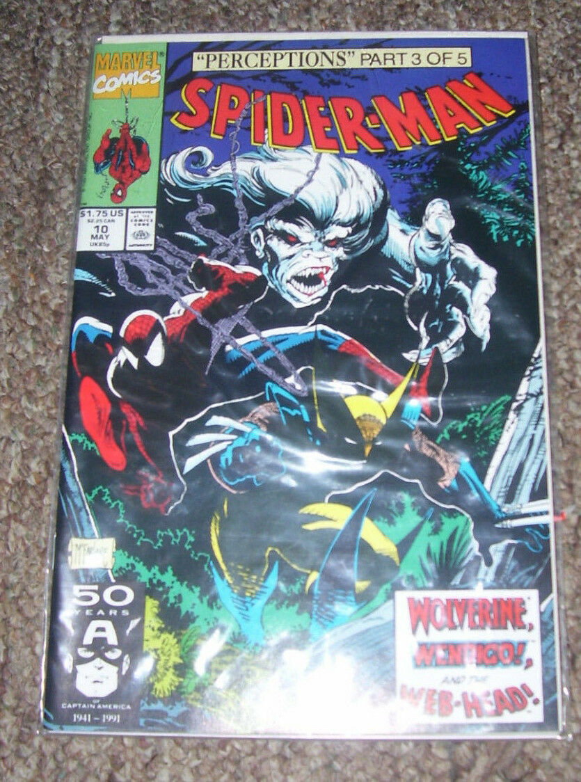 1991 Marvel Comics Spider-Man McFarlane #10 Perceptions Part 3 of 5 Wolverine