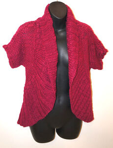 Red Cardigan Sweater Womens 108