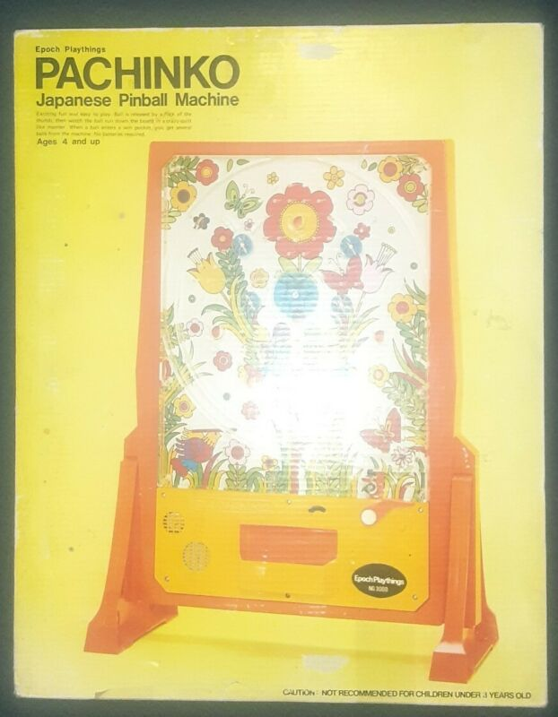 Epoch Vintage 1973 Pachinko Pinball Game Japanese Arcade Pinball w/original box