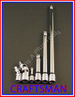 CRAFTSMAN 6pc 1/4 3/8 ratchet wrench WOBBLE socket extension universal flex set  Wobble Extension Set