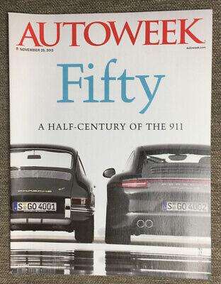 Autoweek November 25 2013 50 Years of the Porsche 911 Honda CRZ