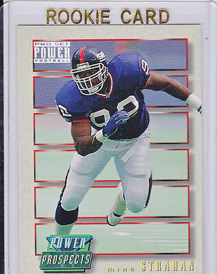 Michael Strahan Ny Giants Rookie Card 1993 Power Prospects Rc New York  92