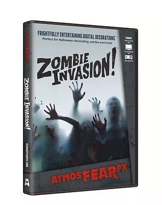 AtmosFEARfx Zombie Invasion! Halloween Digital Decorations DVD New