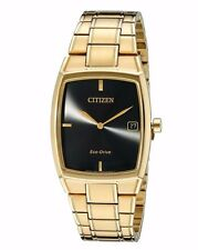 Citizen Eco-Drive Men's AU1072-52E Black Dial Yellow Gold Dress Watch