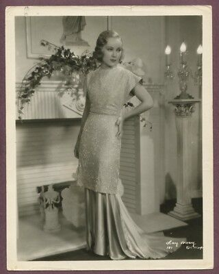 FAY WRAY Stunning Roaring 1920's Luxurious Flapper Girl Gown Glamour Photo J853