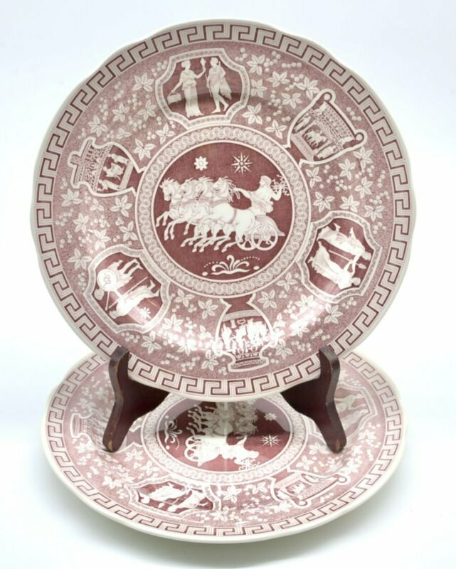 Spode Archive Collection Cranberry Greek 1987-2006 Rare and Perfect!