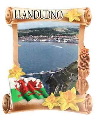Llandudno Rollo Welsh Recuerdo Imán de Nevera
