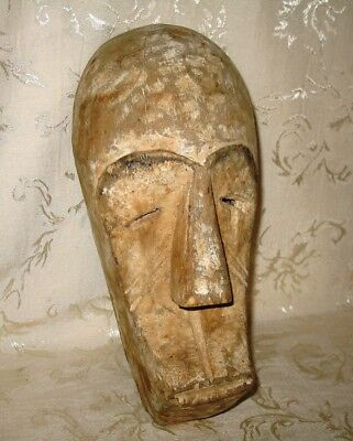 Antique Fang Mask, Gabon, West Africa, Carved Wood with Naturel Pigments 12""