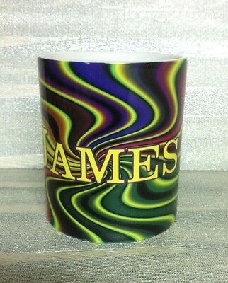 PUT A NAME ON Groovy Psychedelic Custom Personalized Ceramic Coffe/Tea Mug Cups](Personalized Coffe Mugs)