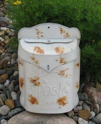 Metal Postal MAILBOX*Distressed White*Primitive/French Country Farmhouse Decor