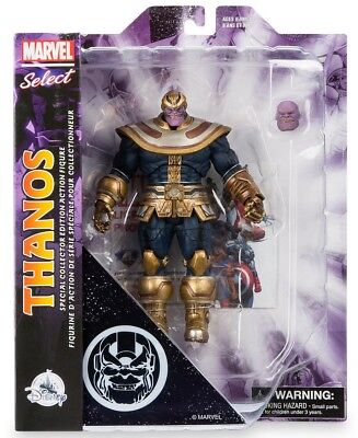 "DISNEY STORE AVENGERS INFINITY WAR THANOS COMIC MARVEL SELECT 7"" ACTION FIGURE"