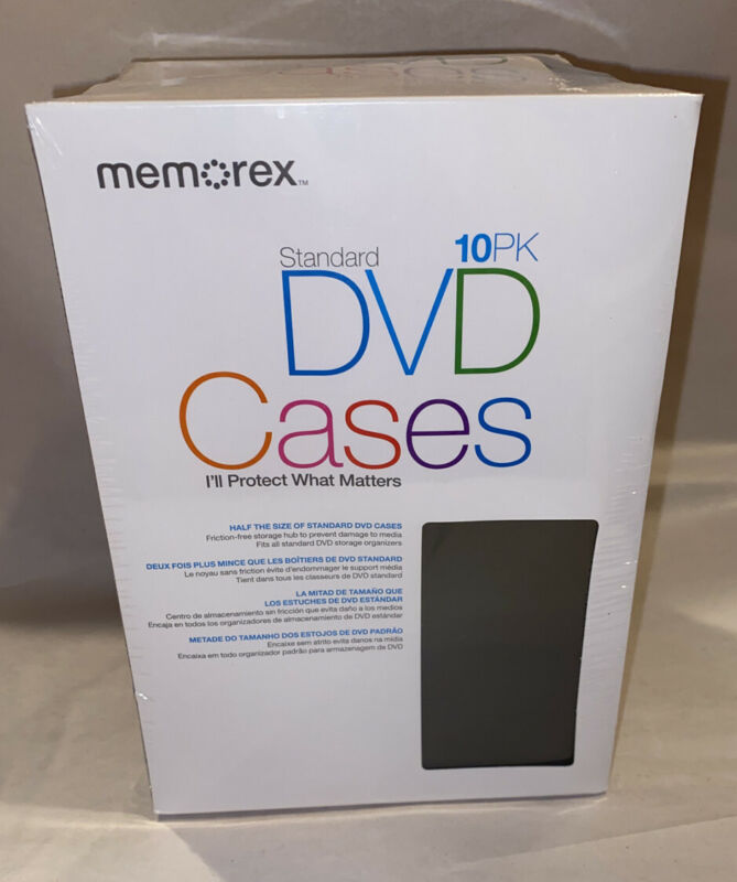 Memorex Standard DVD Cases 10 Pack New *Fast Shipping*