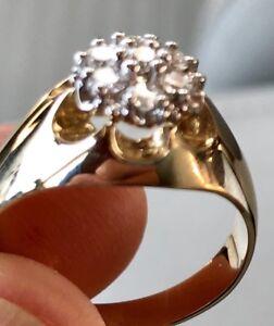 Bague pour homme en or 10K avec coussin de diamants 70pts gr10