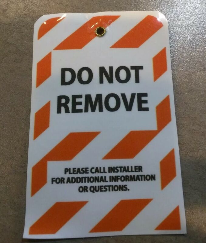 50 total, Lock Out Tag, Barricade Identification Tag, Do Not Remove Tags. X50