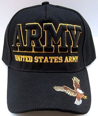 U.S. ARMY VETERAN Cap/Hat w/ Eagle 3D Embroidery Black Military*FREE SHIPPING*