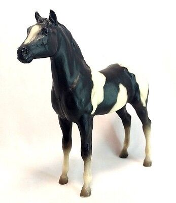 "Breyer Vintage #231 Pinto Yearling Black & White 7"" Horse PonyFigure Loose EUC"