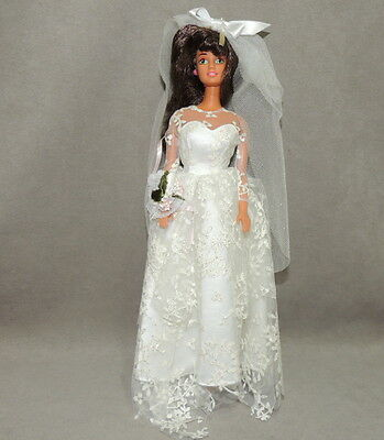Barbie 1990s Doll Loose Fashion Clothes Gown Dress Teresa Wedding Bride Hispanic