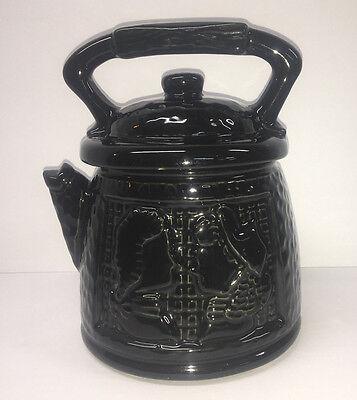 Vintage McCoy Black Teapot Coffee Pot Colonial Couple Cookie Jar