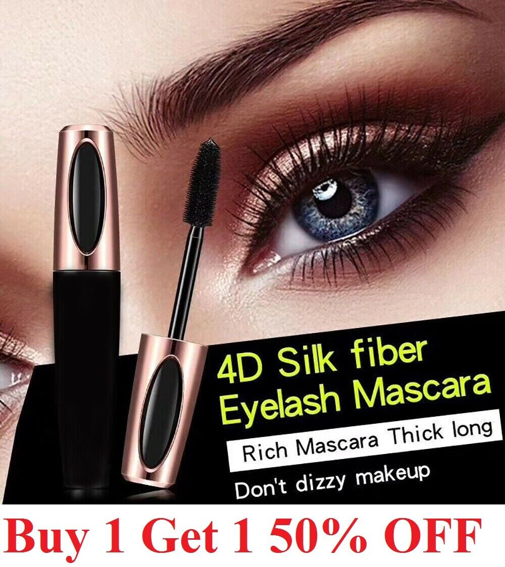 wise 4D Silk Fiber Eyelash Mascara Extension Makeup Black Waterproof Eye Lashes Eyes