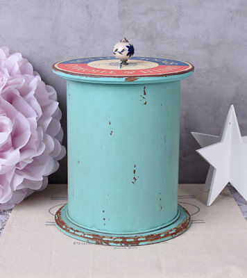 Toy Box Maritime Box Metal Container deckelgefäss Shabby Chic Box Antique](Nautical Toy Box)