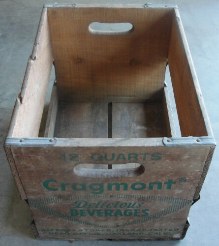 Vintage Cragmont Safeway Stores Wood / Wooden Soda Crate / Box AWESOME!