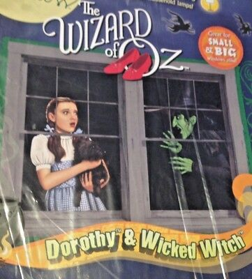 The Wizard of OZ Dorothy Toto Wicked Witch West Window BACKLIT Poster WOWindow - Halloween Backlit Window Posters