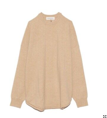 Extreme Cashmere Women's Natural Crew Sweater in Camel. O/S Perfect condition.