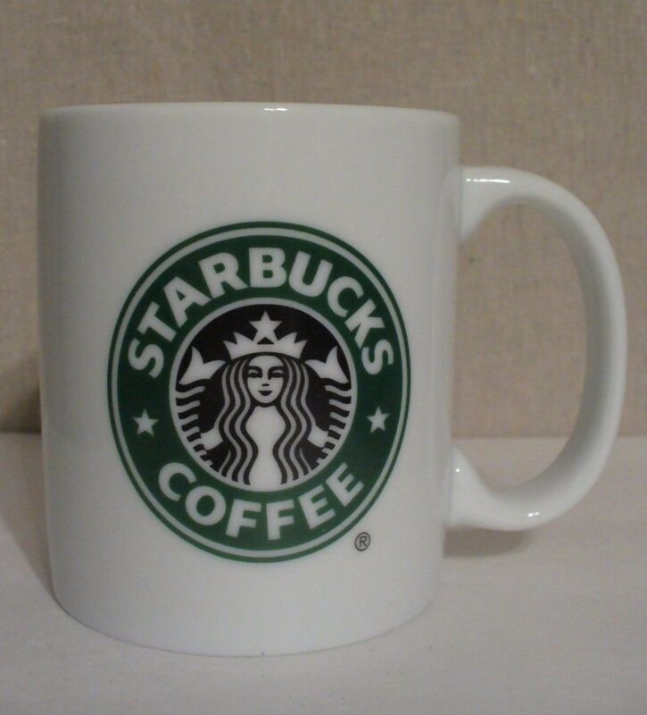 Starbucks Coffee Mug Mermaid logo white 9 oz 2005