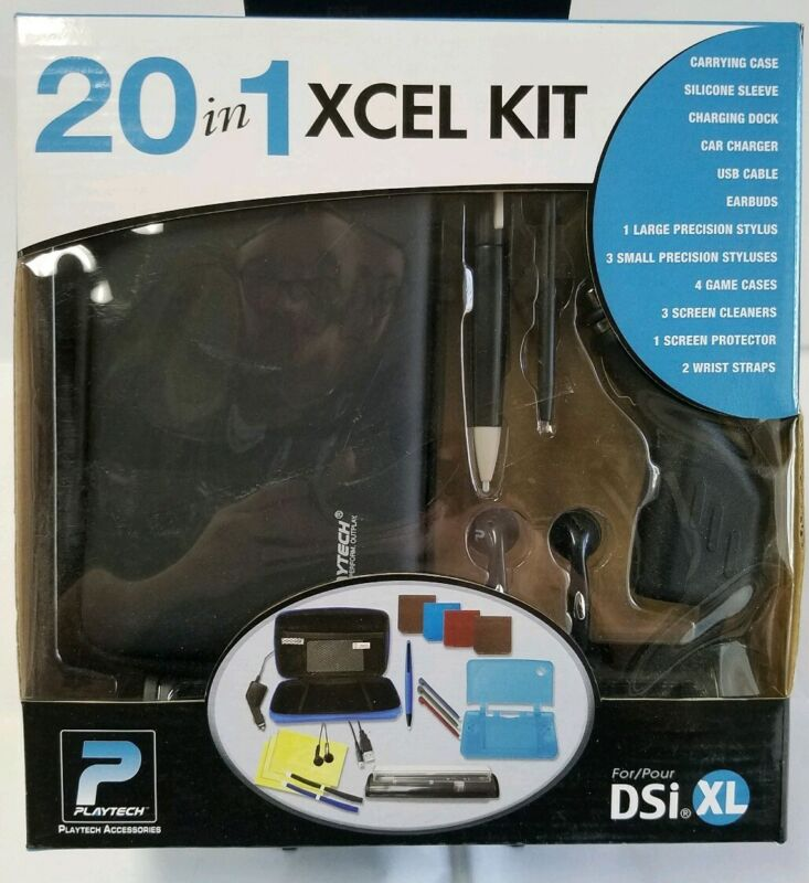 DSi XL Kit 20 in 1, case and accessories