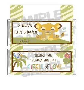 SIMBA-LION-KING-BABY-SHOWER-candy-bar-wrappers-PARTY-FAVOR