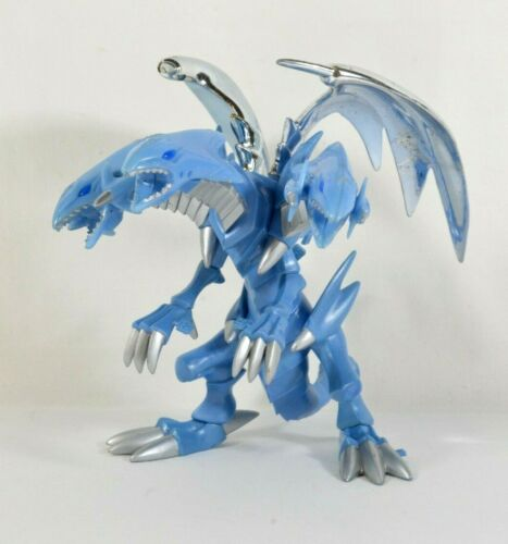 Vtg 2002 YuGiOh! Blue Eyes White Dragon Figure Model Kit Near Complete