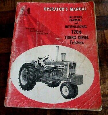 Mccormick Farmall International 1206 Turbo Diesel Tractors Operators Manual