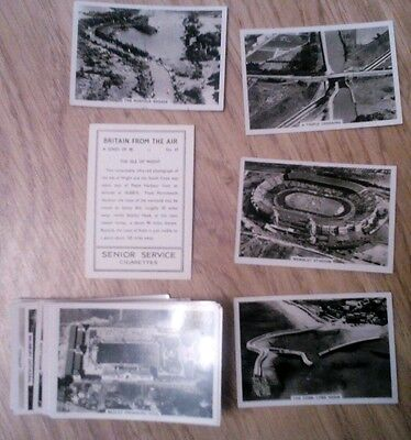 "COMPLETE SET OF 48 SENIOR SERVICE ""BRITAIN FROM THE AIR"" CIGARETTE CARDS"