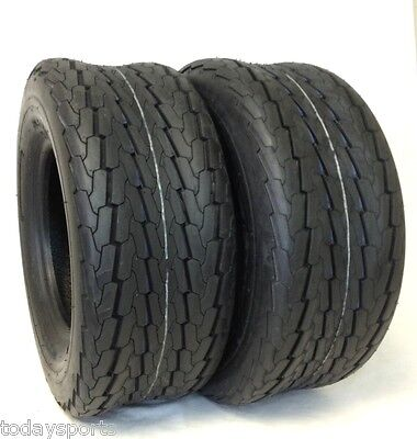 SET OF TWO 20.5x8.0-10 Pontoon Boat Camper Trailer Tire 10 PLY RATED