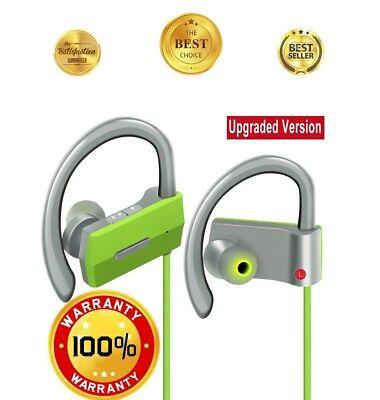 Wireless Headphones Bluetooth Sweatproof Gym, Best Bass Sport Earbuds Running