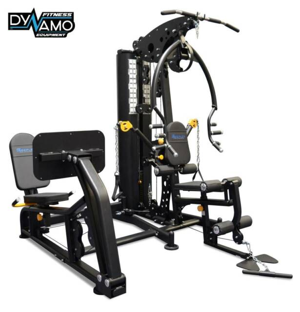 Home gym multi station steel weight stack new with leg