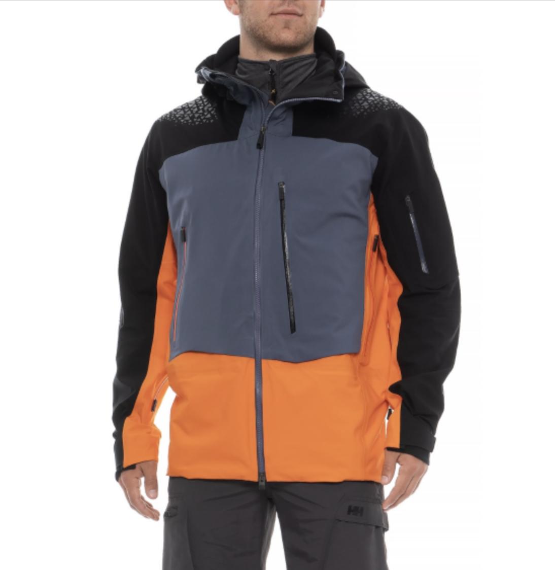 $899! NWT KJUS FRX Pro Ski Jacket Coat Dermizax Orange Black Grey Men's L EU 52