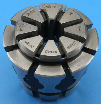 "Crawford Multibore Collet B4 3/8 - 1/2"" 9.52 - 12.70mm Round T-980 (8)"