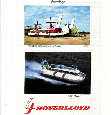 BC271 1970s GB *Hoverlloyd* Hovercraft Service Postcards{2} Album Page