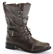 Womens Lace Up Ankle Boots Size 7